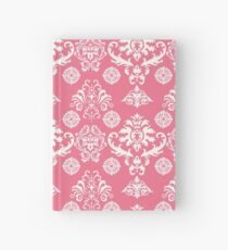 Red and White Damask Hardcover Journal