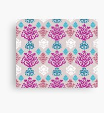 Multicoloured Damask Canvas Print