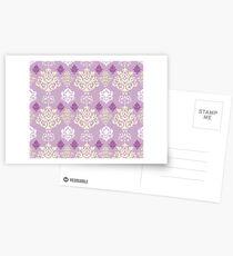 Multicoloured Damask Three Postcards