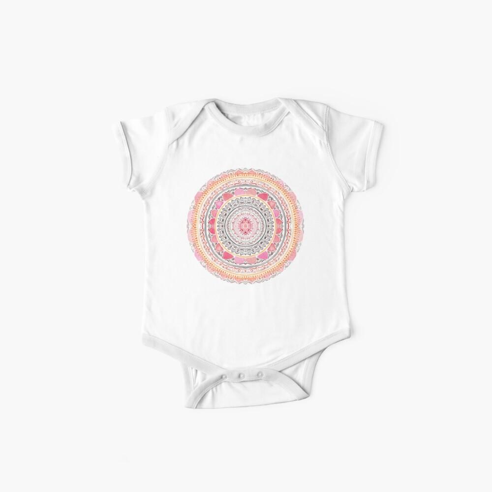 Pastel Bohemian Mandala Baby One-Piece