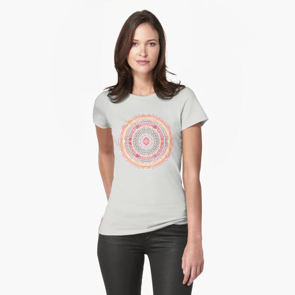 Pastel Bohemian Mandala Fitted T-Shirt