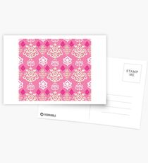 Multicoloured Damask Two Postcards