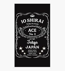 Io Shirai Whisky Label Photographic Print