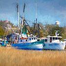 Shem Creek Shrimp Boats by TJ Baccari Photography