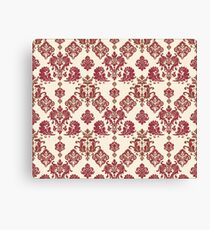 Red and Gold Vintage Damask Canvas Print