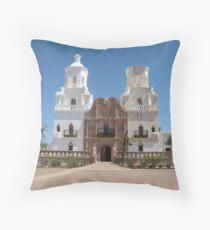 San Xavier del Bac Entrance Throw Pillow