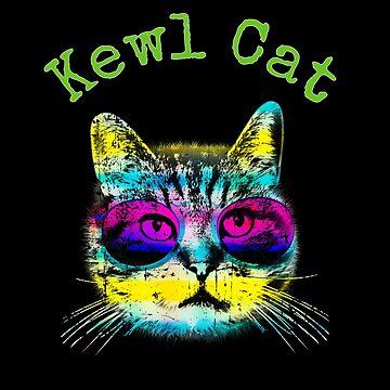 Kewl Cat Rainbow Cool Cat by Snug-Studios
