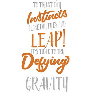 Funny & Awesome Gravity Tshirt Design Defying Gravity by Customdesign200