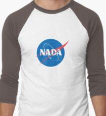 #NADA Flat Earth Parody Logo Men's Baseball ¾ T-Shirt