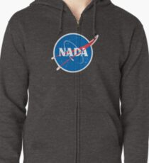 #NADA Flat Earth Parody Logo Zipped Hoodie