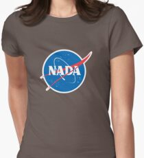 #NADA Flat Earth Parody Logo Women's Fitted T-Shirt