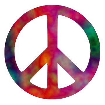 Tie Dye Peace Symbol by parakeetart