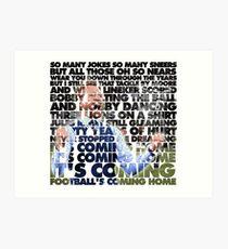 Football's Coming Home, Gareth Art Print