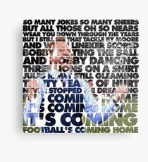 Football's Coming Home, Gareth Metal Print