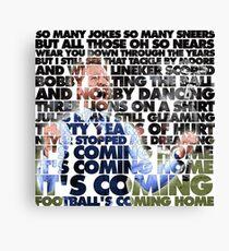 Football's Coming Home, Gareth Canvas Print
