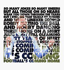 Football's Coming Home, Gareth Photographic Print