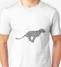 Leopard Gray and Light Gray Print Unisex T-Shirt