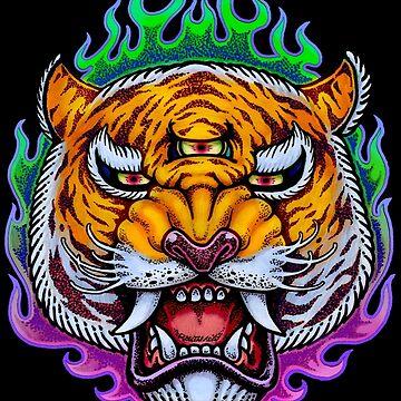 Third Eye Tiger by Villainmazk