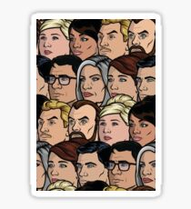 Archer Characters Sticker