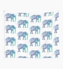 Blue Elephant Wall Tapestry