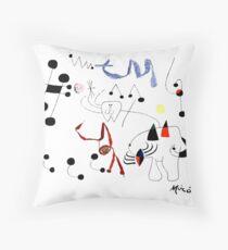 Joan Miro Woman Dreaming Of Escape T Shirt, 1945 Artwork Throw Pillow