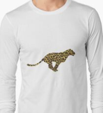 Leopard Brown and Yellow Print T-Shirt
