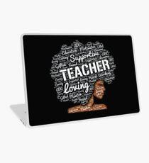 Wörter in der Afro-Kunst für Afroamerikaner-Lehrer Laptop Folie