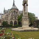 Spring in Paris: Notre-Dame de Paris East Facade by Elena Skvortsova