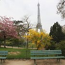 Spring in Paris: Eiffel Tower in Blooms by Elena Skvortsova