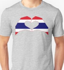 We Heart Thailand Patriot Flag Series Slim Fit T-Shirt