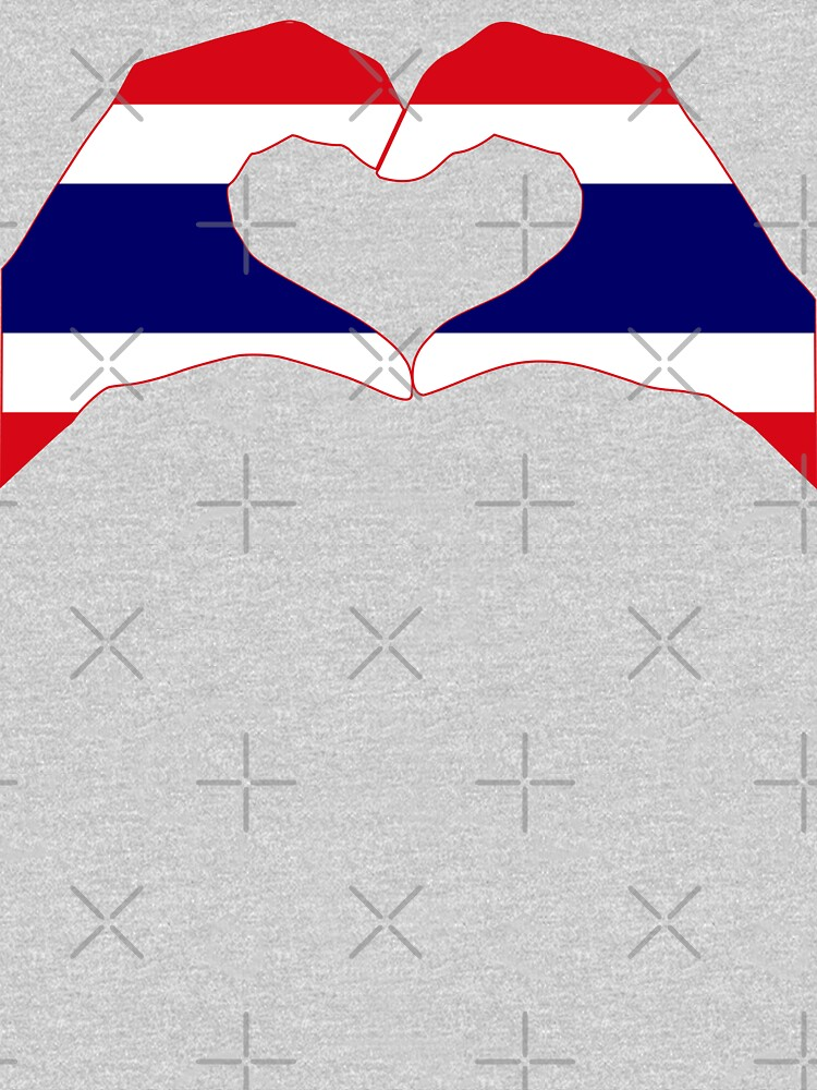 We Heart Thailand Patriot Flag Series by carbonfibreme