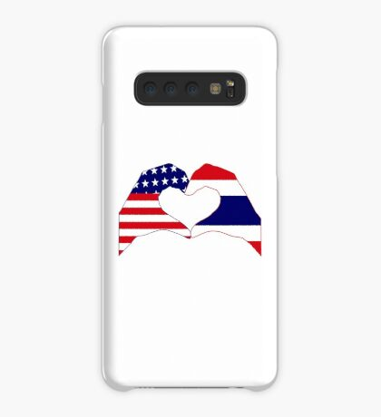 We Heart USA &Thailand Patriot Flag Series Case/Skin for Samsung Galaxy