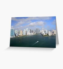 Miami: Downtown and Brickell Key Greeting Card