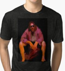 Dude from Big Lebowski – painting Tri-blend T-Shirt