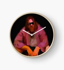 Dude from Big Lebowski – painting Clock