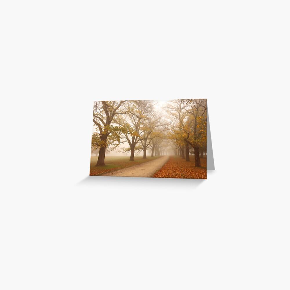 Autumn Fog, Daylesford, Victoria, Australia Greeting Card