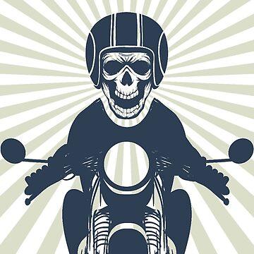Motorcycle Helmet Skull by marcusfpa
