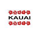 Kauai Red Flower Bands Color-  Light by TinyStarAmerica