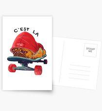 C'est la vie skate Dog Postkarten
