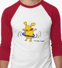 Yellow Dog Blue Hoop Men's Baseball ¾ T-Shirt