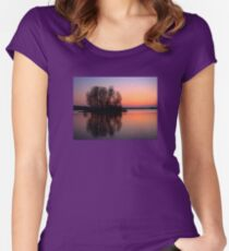 reflection sunset Women's Fitted Scoop T-Shirt