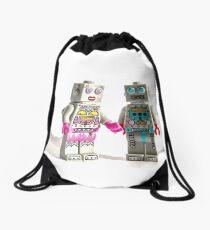 Robot love.... Drawstring Bag