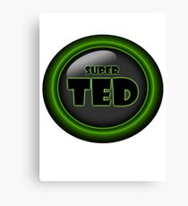 Super Ted Canvas Print