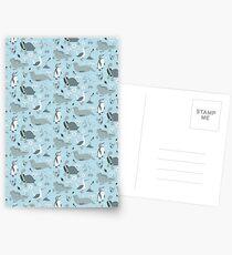 Galapagos Pattern Blue Postcards