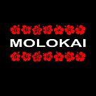 Molokai Red Flower Bands Color Dark by TinyStarAmerica