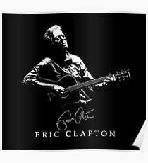 Eric Clapton - rock-blues-music - Fender Stratocaster Poster