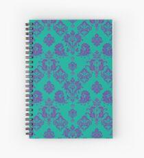 Lavender Vintage Damask Pattern Spiral Notebook