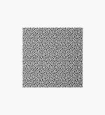 Pretty Leopard Black and White Pattern  Art Board