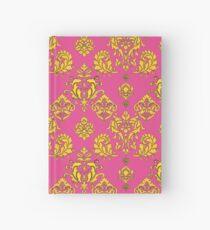 Pink and Gold Vintage Damask Hardcover Journal