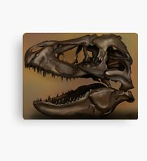 T. Rex Skull Canvas Print